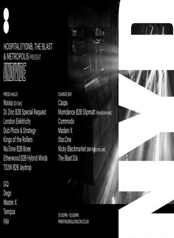 NYD – HospitalityDnB, The Blast & Metropolis present Undivide